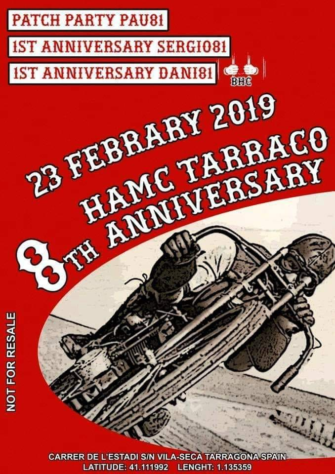 23 8th Anniversary HAMC Tarraco