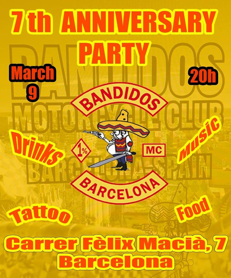 09 VII Anniversary Party Bandidos MC Barcelona